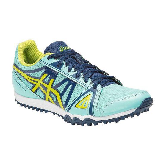 Asics Hyper Rocketgirl XCS Womens Track and Field Shoes, Blue / Yellow, rebel_hi-res