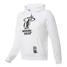 Miami Heat Mens Fleece Hoodie White S, White, rebel_hi-res