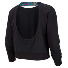 Nike Womens Long Sleeve Training Sweatshirt Black XS, Black, rebel_hi-res