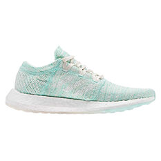 adidas Pureboost GO Womens Running Shoes Green / White US 6.5, Green / White, rebel_hi-res