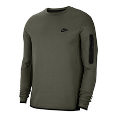 Nike Mens Tech Fleece Sweatshirt Khaki XS, Khaki, rebel_hi-res