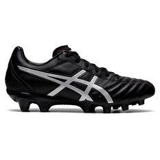 Asics Lethal Flash IT Football Boots Black/Silver US Mens 7 / Womens 8.5, Black/Silver, rebel_hi-res