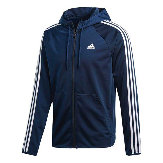 36a79f715 adidas Mens D2M Hoodie Blue M, Blue, rebel_hi-res