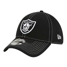 Oakland Raiders New Era 39THIRTY Sideline Road Cap Black, Black, rebel_hi-res