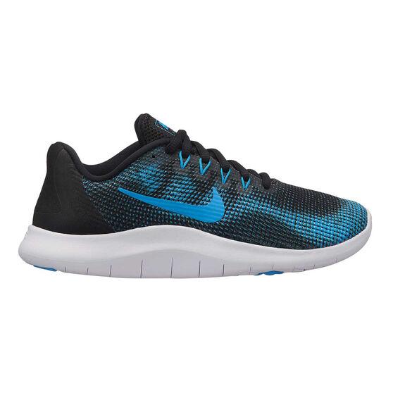67a42956ae54 Nike Flex RN 2018 Boys Running Shoes Black   Blue US 6