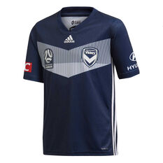 Melbourne Victory FC 2019/20 Kids Home Jersey Navy 10, Navy, rebel_hi-res