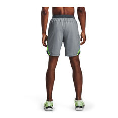 Under Armour Mens Launch 7in Running Shorts Grey S, Grey, rebel_hi-res