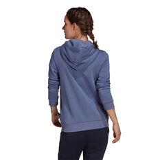 adidas Womens Loungewear Essentials Logo Fleece Hoodie Purple XS, Purple, rebel_hi-res