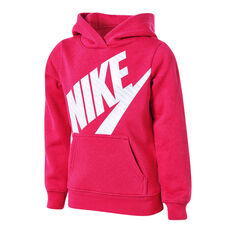 Nike Girls Sportswear Futura Fleece Hoodie Pink 4, Pink, rebel_hi-res