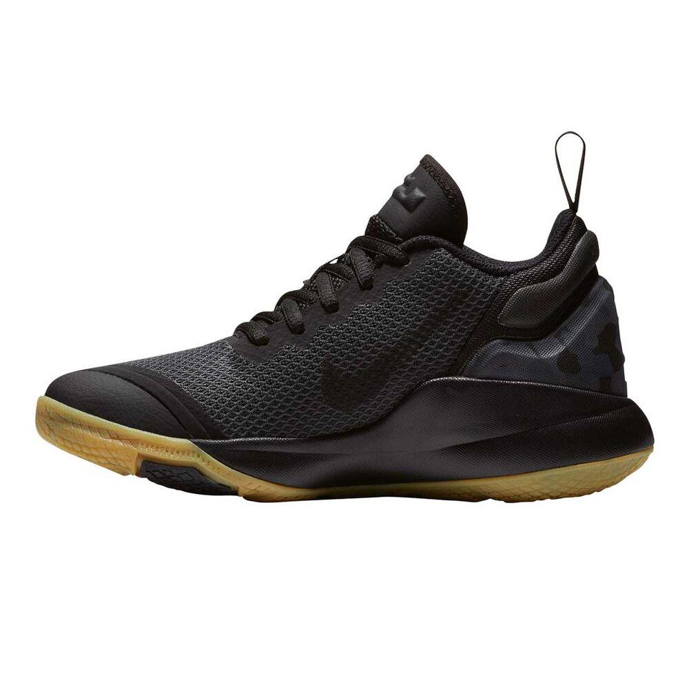 4a47086480ce4 Nike LeBron Witness II Boys Basketball Shoes Black   Brown US 4 ...