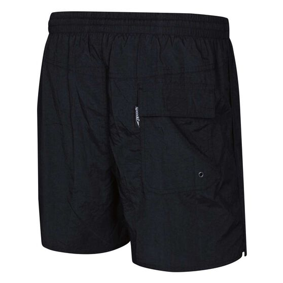 Speedo Mens Solid Leisure Swim Shorts Black S, Black, rebel_hi-res