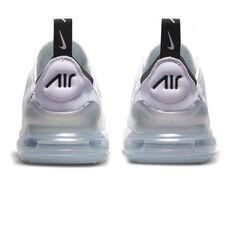 Nike Air Max 270 Kids Casual Shoes, White/Purple, rebel_hi-res