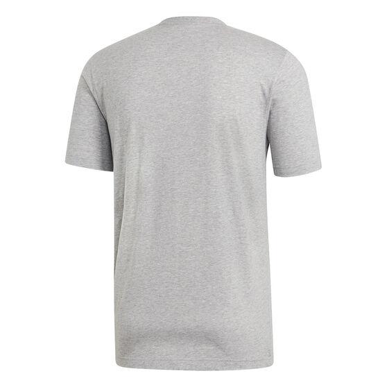 adidas Mens Essentials Plain Tee Grey XL, Grey, rebel_hi-res