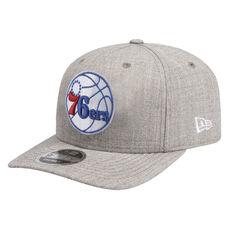 Philadelphia 76ers New Era 9FIFTY Cap Grey S / M, Grey, rebel_hi-res