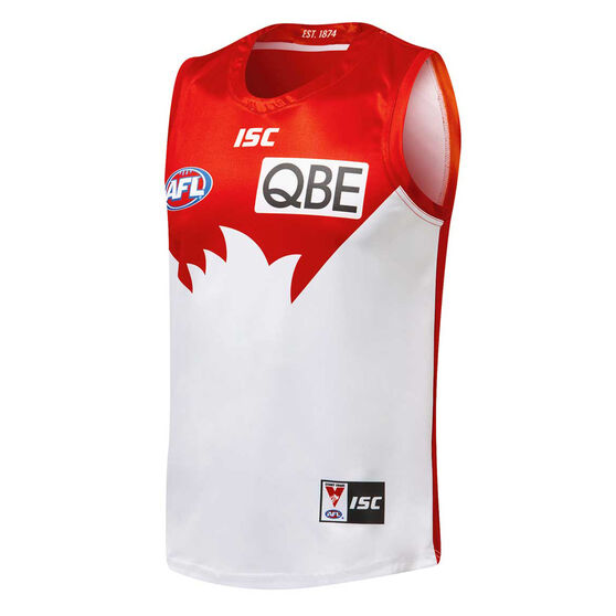 Sydney Swans 2019 Mens Home Guernsey, Red / White, rebel_hi-res