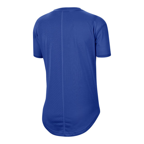 Nike Womens Icon Clash Running Tee, Blue, rebel_hi-res