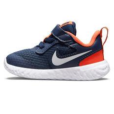 Nike Revolution 5 Toddlers Shoes Navy/White US 2, Navy/White, rebel_hi-res