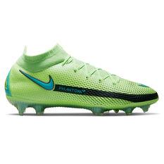 Nike Phantom GT Elite Dynamic Fit Football Boots Green/Blue US Mens 6 / Womens 7.5, Green/Blue, rebel_hi-res