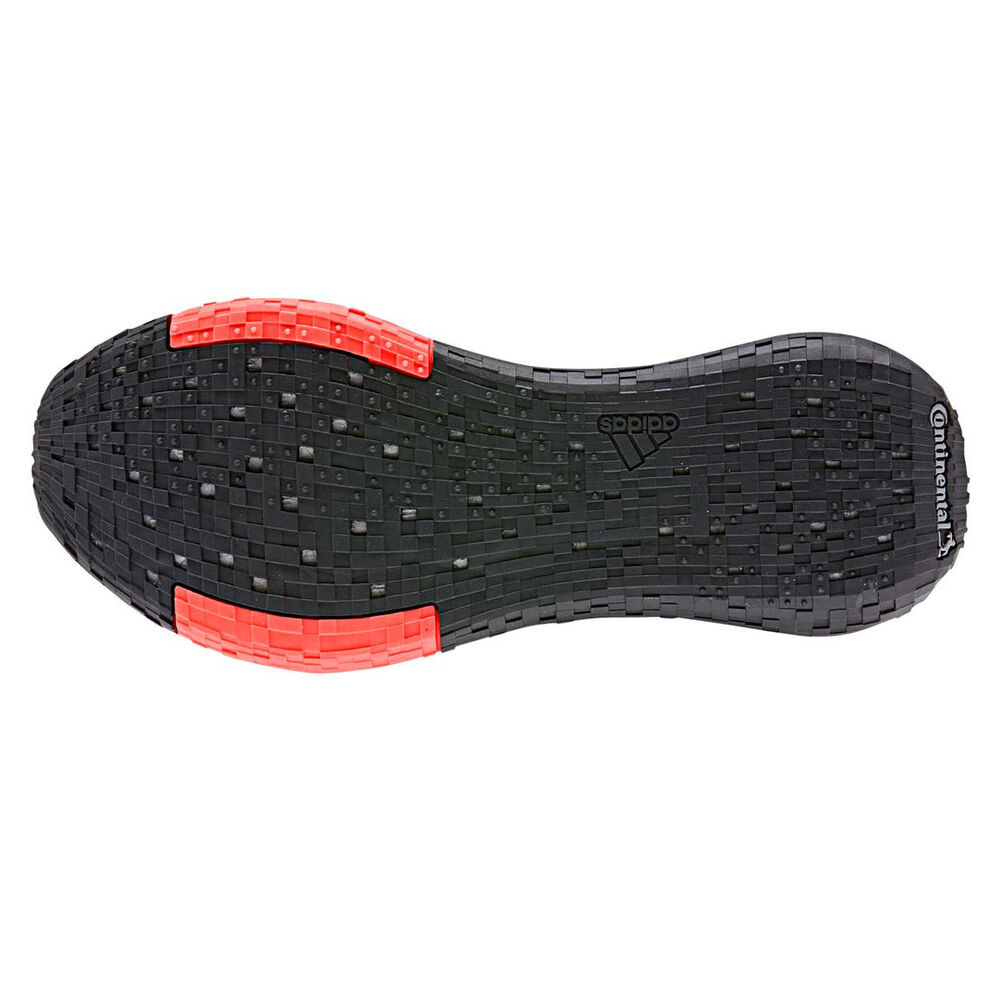 094d2786 adidas Pulseboost HD Mens Running Shoes, Black / Red, rebel_hi-res