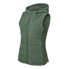 Ell & Voo Womens Masey Quilted Vest Green XS, Green, rebel_hi-res