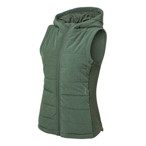 Ell & Voo Womens Masey Quilted Vest, Green, rebel_hi-res