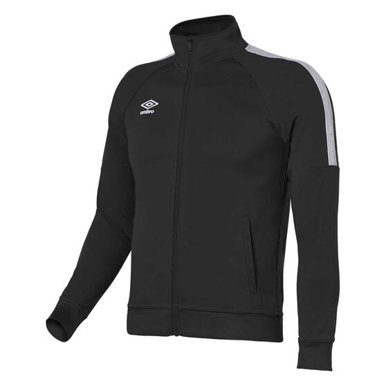 Umbro Teamwear Track Jacket, Black / White, rebel_hi-res