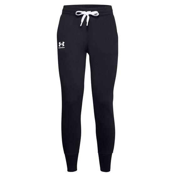 Under Armour Womens UA Rival Fleece Jogger Pant, Black, rebel_hi-res