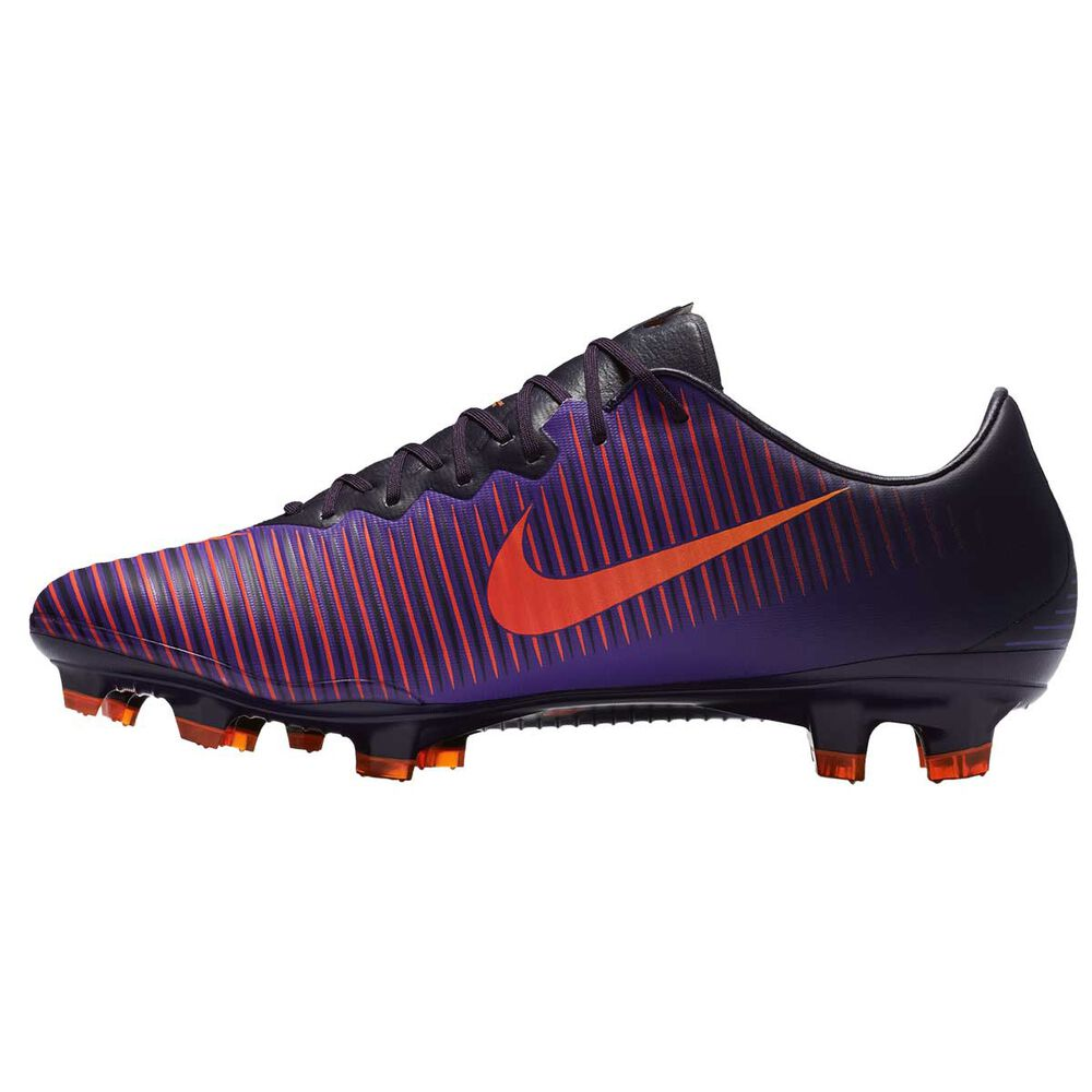 98ded66efc54 Nike Mercurial Vapor XI Mens Football Boots Purple   Citrus US 7 Adult
