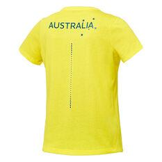 Asics Womens Australian Olympic Village Tee Yellow 8, Yellow, rebel_hi-res