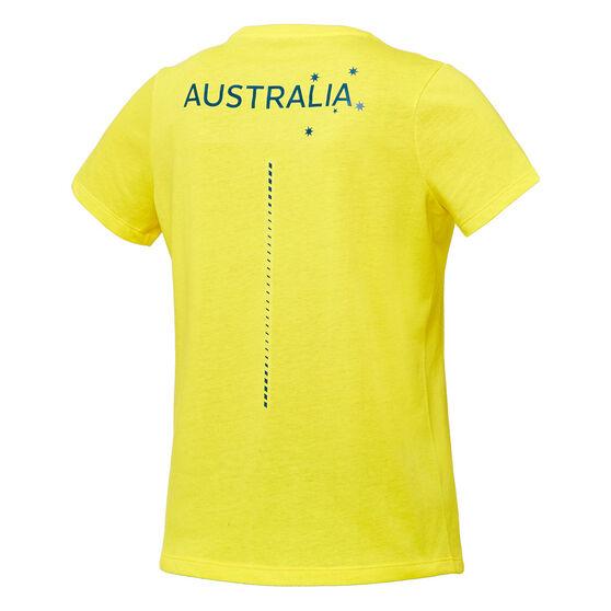 Asics Womens Australian Olympic Village Tee, Yellow, rebel_hi-res