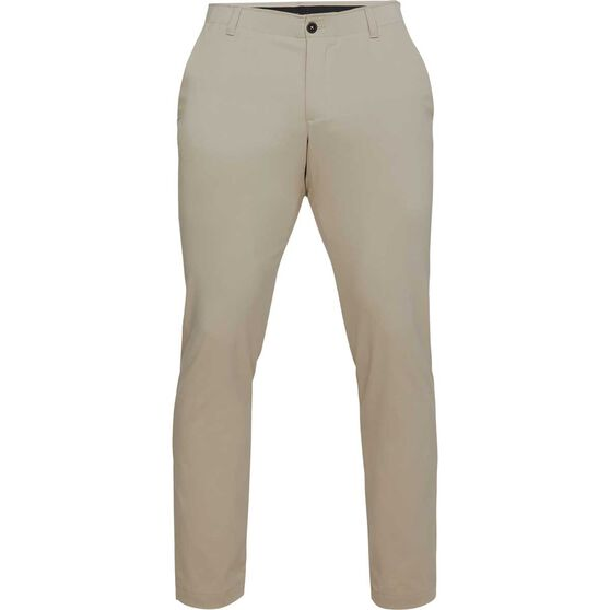 Under Armour Mens Showdown Tapered Pants, Khaki / Black, rebel_hi-res