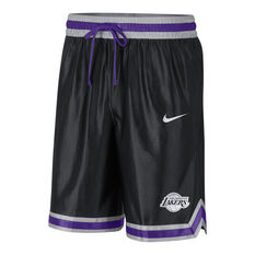 Los Angeles Lakers Mens Chrome Shorts Black XS, Black, rebel_hi-res