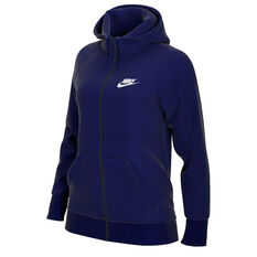 Nike Womens Sportswear Essential French Terry Hoodie Blue XS, Blue, rebel_hi-res