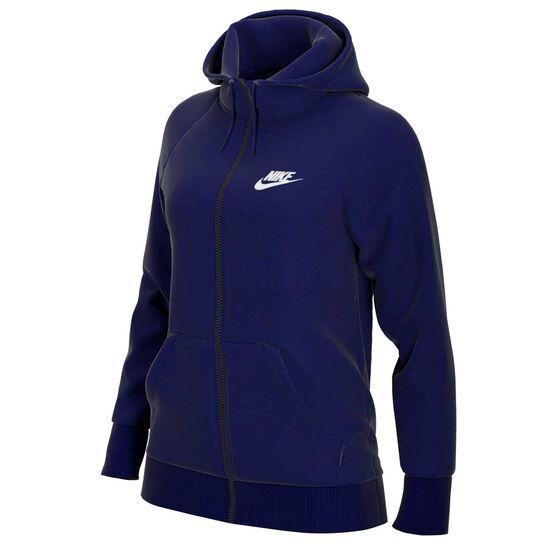 Nike Womens Sportswear Essential French Terry Hoodie Blue XS, Blue, rebel_hi-res