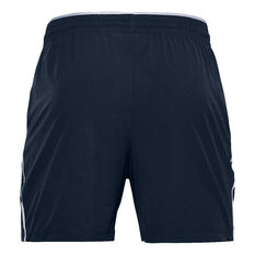 Under Armour Mens Qualifier Performance Shorts Navy XS, Navy, rebel_hi-res