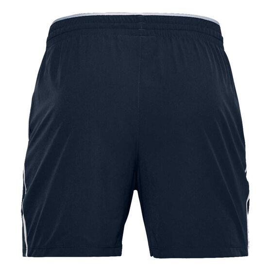 Under Armour Mens Qualifier Performance Shorts, Navy, rebel_hi-res