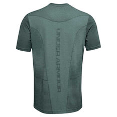 Under Armour Mens Seamless Logo Tee, Blue, rebel_hi-res