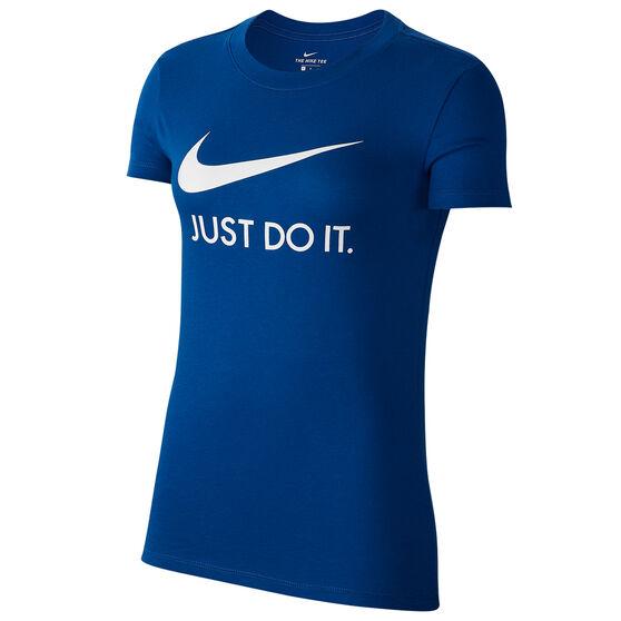 Nike Womens Sportswear Just Do It Tee, Blue, rebel_hi-res