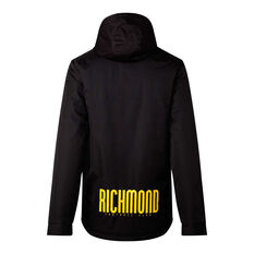 Richmond Tigers 2021 Mens Retro Stadium Jacket Black S, Black, rebel_hi-res