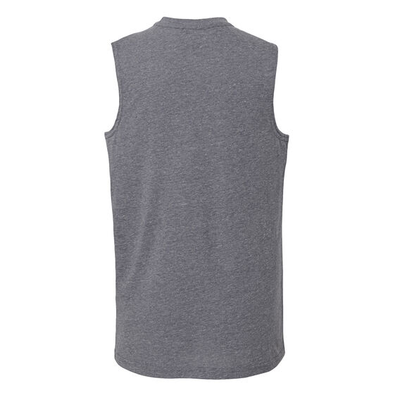 Outerstuff Youth Cleveland Cavaliers Destroyer Muscle Tank, Grey / Yellow, rebel_hi-res