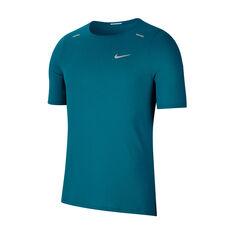 Nike Mens Breathe Rise 365 Running Tee Blue M, , rebel_hi-res