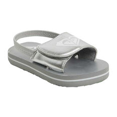 Roxy Finn Toddlers Sandals Silver US 5, , rebel_hi-res