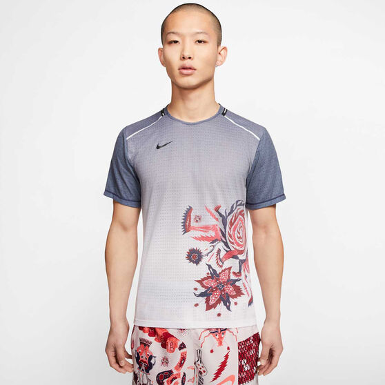 Nike Mens Rise 365 Wild Run Tee Purple M, Purple, rebel_hi-res
