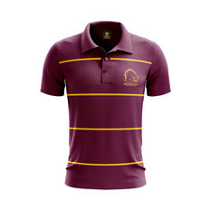Brisbane Broncos Mens Club Line Performance Polo Red S, Red, rebel_hi-res