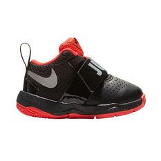 Nike Team Hustle 8 Just Do It Toddlers Shoes Black / Red US 2, Black / Red, rebel_hi-res