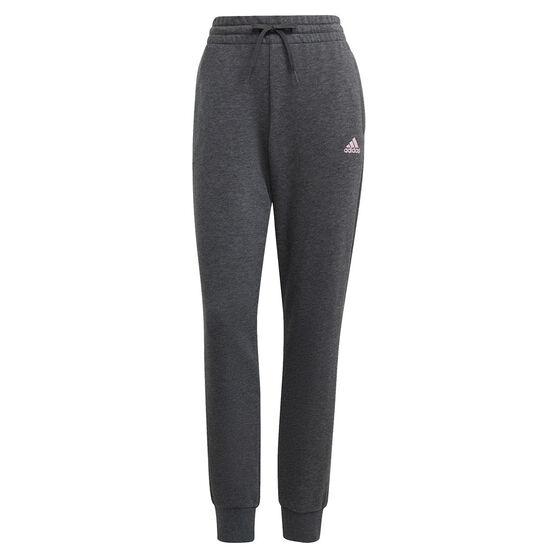 adidas Womens Essentials French Terry Logo Pants, Grey, rebel_hi-res