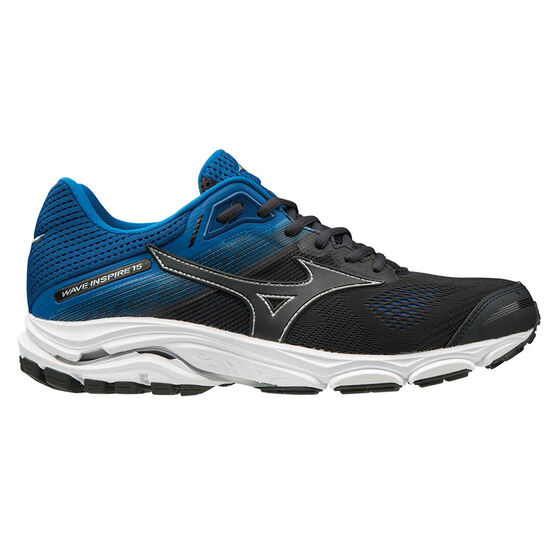 Mizuno Wave Inspire 15 Mens Running Shoes, Black / Blue, rebel_hi-res
