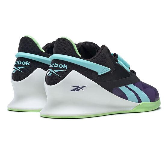 Reebok Legacy Lifter II Womens Training Shoes, Black/Mint, rebel_hi-res
