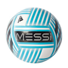adidas Messi Q3 Soccer Ball White / Aqua 5, White / Aqua, rebel_hi-res
