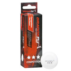 Dragonfly Competition Table Tennis Balls White, , rebel_hi-res